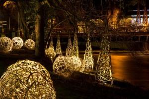Uferlichter im Kurpark von Bad Neuenahr und am Ahrufer