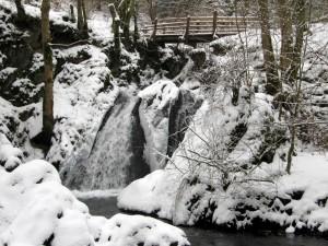 """Die """"Rausch"""", ein Wasserfall in der Nähe des Klosters Maria Martental."""