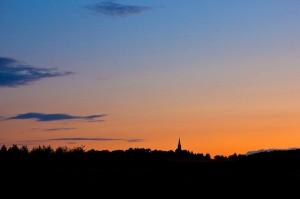Abendlicht über der Eifel
