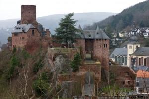 Blick auf die Burg Heimbach