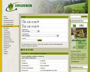 Der Eifelverein im Internet.