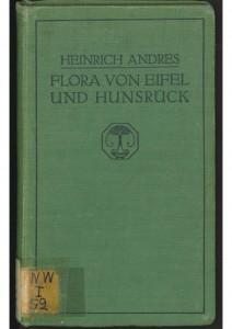Andres Flora von Eifel und Hunsrück-Deckblatt