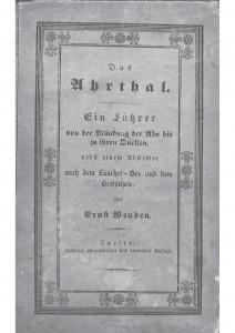Das Ahrthal, Weiden 1839 Deckblatt