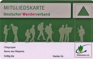 Mitgliedskarte Vorderseite