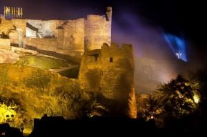 Der Geist von Berthe auf den Mauern der Burg