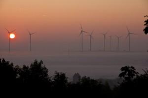 Sonnenaufgang bei Kirchheimbolanden