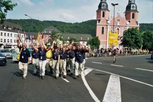 Die Wimpelgruppe auf dem Deutschen Wandertag 2006 in Prüm. (Eifelverein - Hauptgeschäftsstelle und Eifelbibliothek)