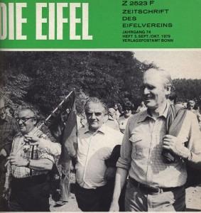 """Bundespräsident Karl Carstens auf dem Titelbild der """"Eifel"""", 1979. (Eifelverein - Hauptgeschäftsstelle und Eifelbibliothek)"""