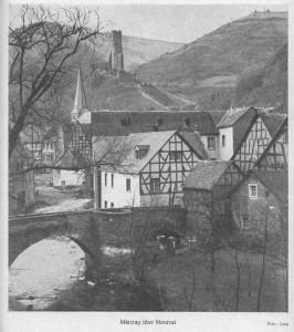 """Eifelidylle in der """"Eifel"""", 1953. (Eifelverein - Hauptgeschäftsstelle und Eifelbibliothek)"""