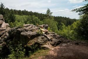Felsformation auf der Traumschleife Felsenweg