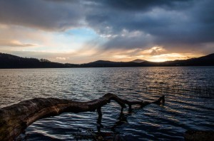 Dämmerung am Laacher See