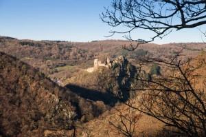 Die Ruine der Burg Are