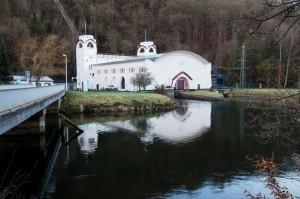 Jugendstil-Wasserkraftwerk