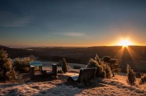 Sonnenaufgang am Kalvarienberg