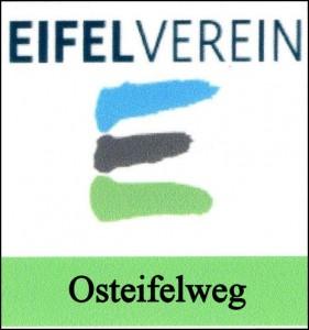 Das Markierungszeichen des Osteifelweges