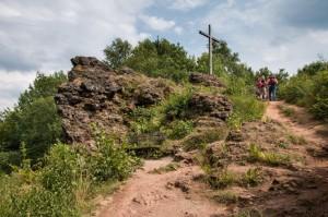 Gipfelkreuz über dem Windsborn Krater