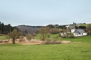 Blick auf Wollmerath und das Trockenmaar