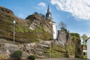 Start unserer Tour in Steffeln; hier die Pfarrkirche St. Michael