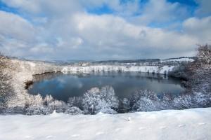 Das Weinfelder Maar im Winter