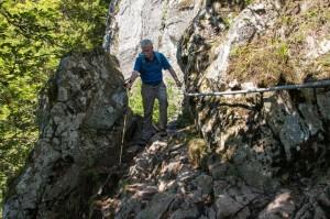 Der gesicherte Bergsteig Sentier des Roches