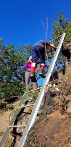 Auf dem Klettersteig Rabenlay