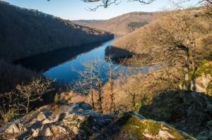 Blick auf die Rurtalsperre-Obersee